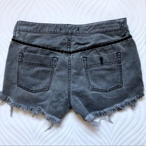 Free People Shorts - Free People Gray Distressed Denim Shorts
